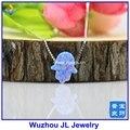 1 unid Envío Libre 11*13mm Mezcla Sintética Colores Opal hamsa de Fátima Mano de Plata de ley 925 collar
