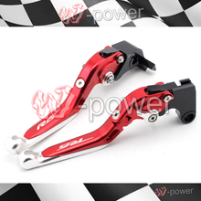 Discount! fite For YAMAHA YZFR6 YZF-R6 2005-2016 Red + Silver Motorcycle Adjustable collapsible Telescopic Brake lever logo R6