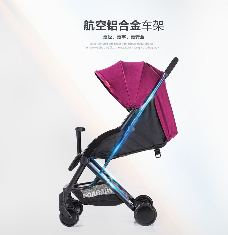 Babyfond 5.2KG can use one hand folding ultra-light stroller travel without shipping and anti-vibration umbrella stroller