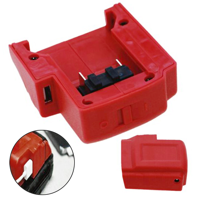 Red USB Charger Adapter Power Charging For Milwaukee 49-24-2371 M18 Battery