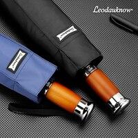 Luxury Automatic Umbrella Rain Women Men Business Double Layer Windproof Folding Umbrellas Men 10K Clear Umbrella Brand Men Gift