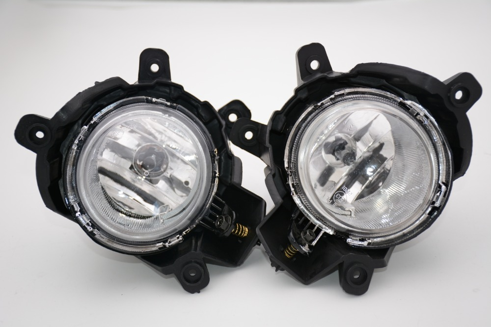 2 Pcs/Pair Clear Left Right Fog Light Driving Lamps with bulbs Assembly for KIA Carens 2007-2013