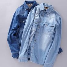 Warm and thick long sleeve denim shirt men cotton casual velvet shirts for men winter autumn clothing brand shirt mens chemise