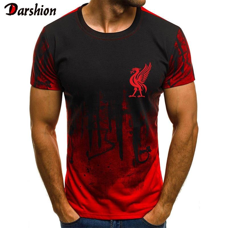 2019 Brand T Shirt Men Gradient Color Short-Sleeve Funny T Shirts Muscle Basic Solid Tee Shirt Top Hip Hop Men Clothing 4XL