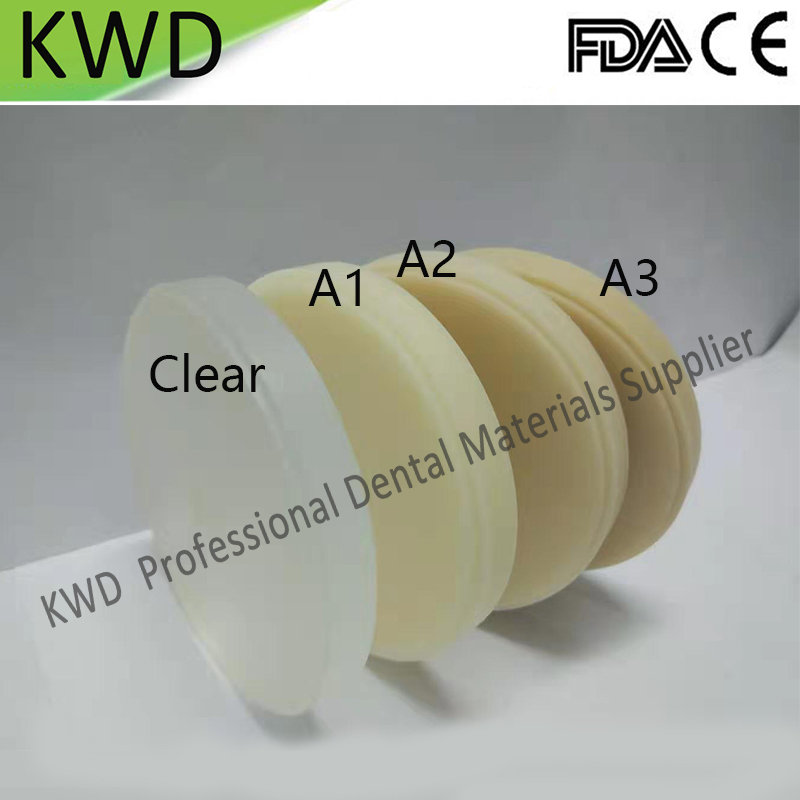 5 Pieces Lot Clear A1 A2 A3 Color Dental Material Wieland System PMMA Blocks Dental Products
