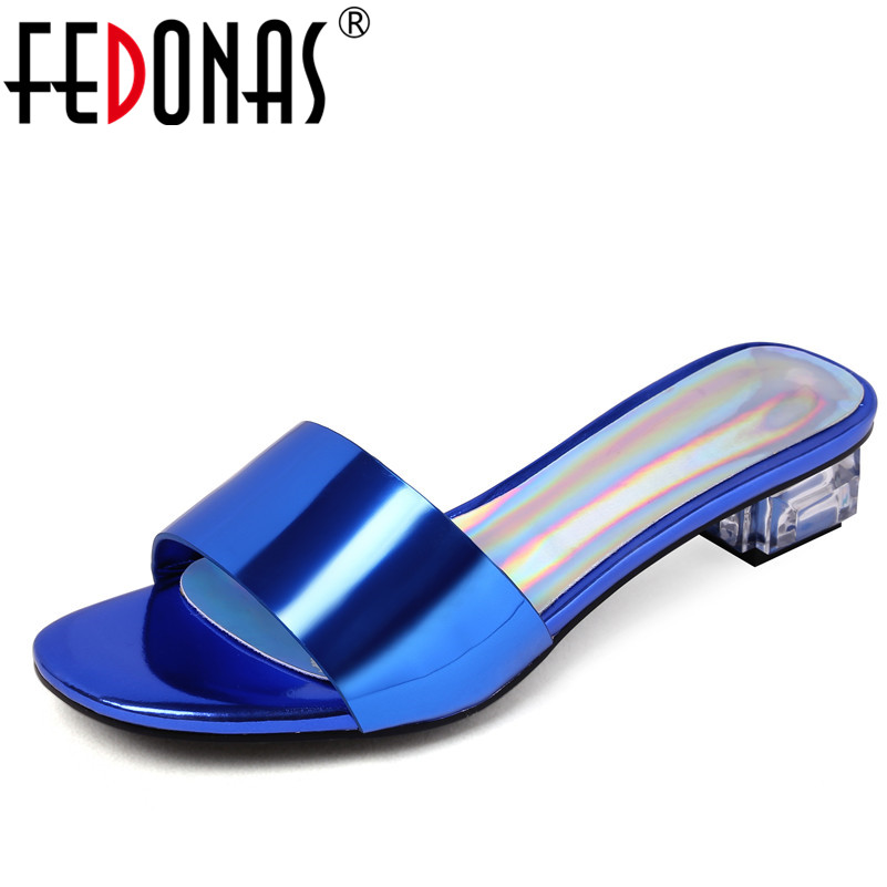 FEDONAS Fashion Women Sexy High Heels Sandals Glitters Fabric Summer Wedding Party Shoes Woman Females Slippers