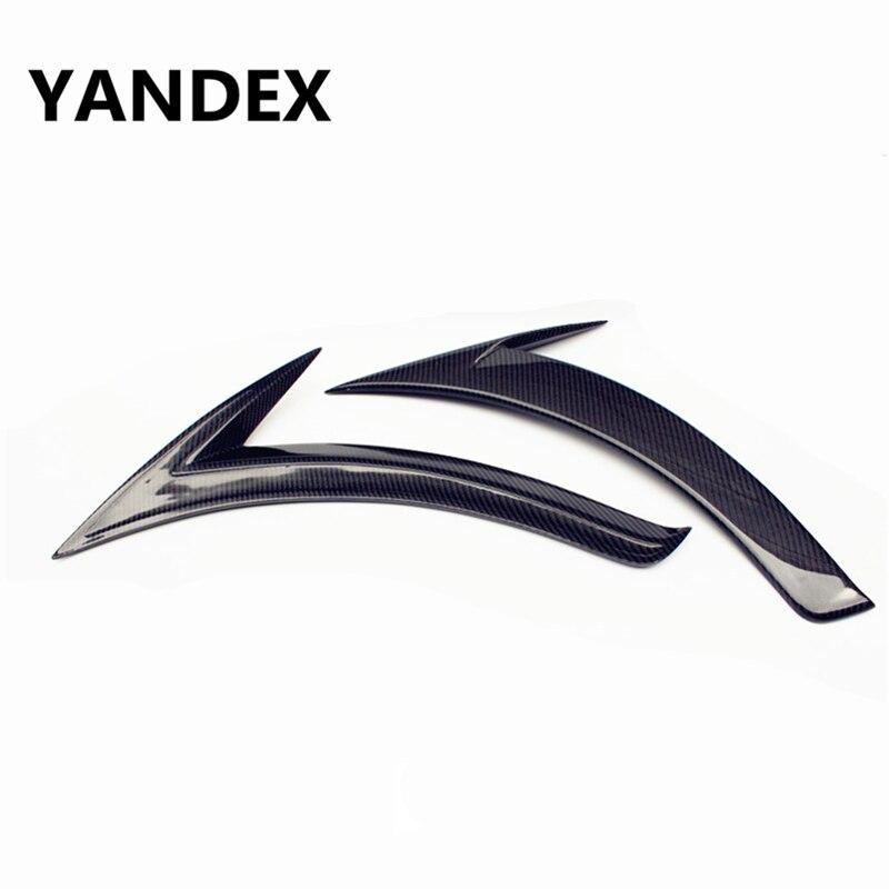 YANDEX Mercedes A Class W176 carbon fiber fender vent trim body parts for benz A160 A180 A200 A250 2013 2017