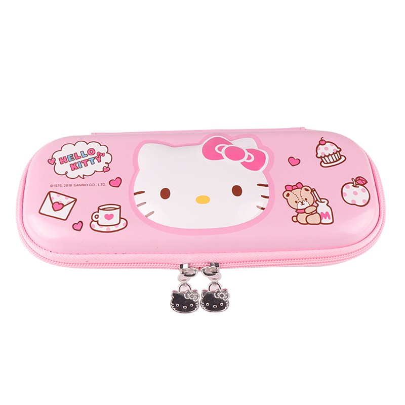 Large size big capacity Hello kitty multi-layer light color cute EVA school pencil case girls Kawaii милые пеналы pouch