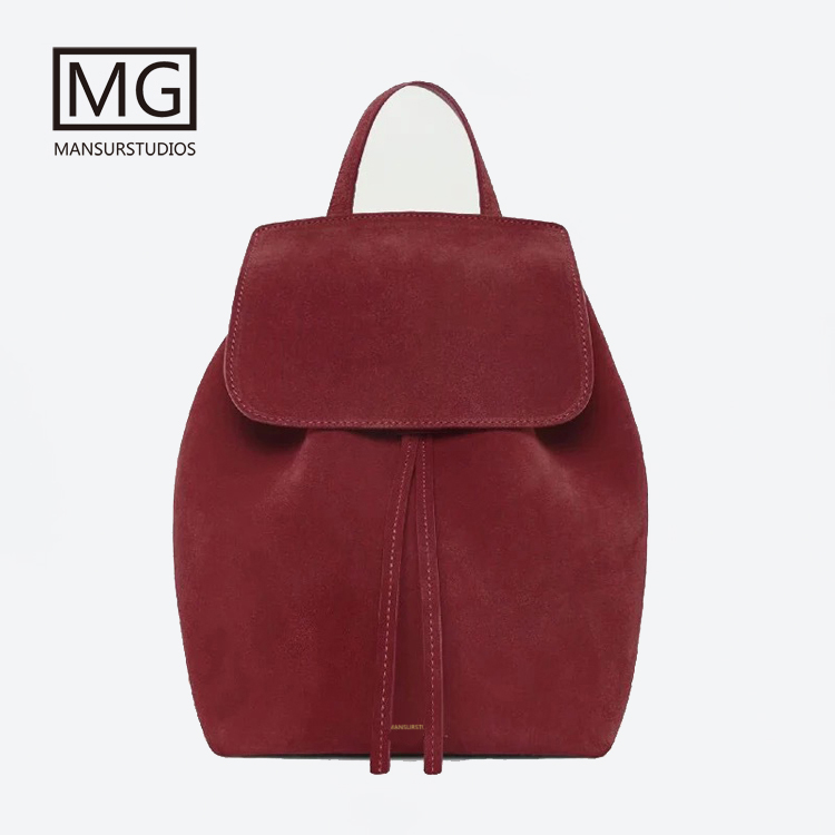 Mansurstudios Women Faux Suede Backpacks  ,lady leather suede Backpacks ,suede school bag,free shipping рюкзаки zipit рюкзак shell backpacks