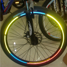 new mountain bike stickers reflective stickers wheel wheel dazzling lights and colorful stickers reflective stickers