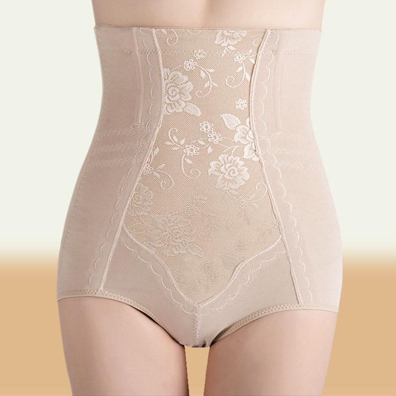 005d6c027bbb6 DeRuiLaDy Waist Trainer Corset Shapers Slimming Belt High Waist Panties  Briefs Shapewear Hot Shapers Jacquard Bodysuit Women -in Control Panties  from ...
