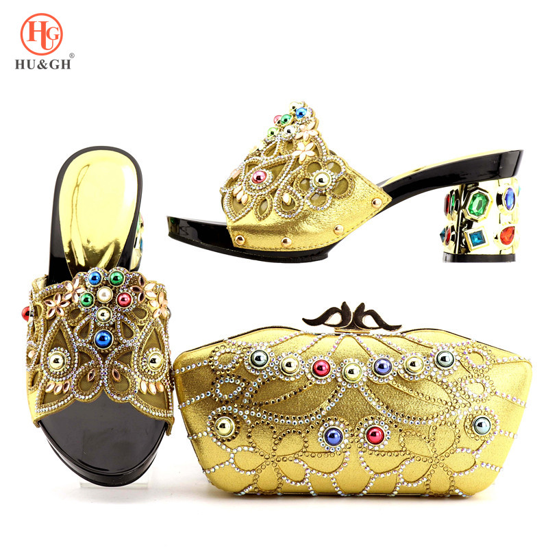 Italian Gold Color Italian Ladies Shoes and Bags To Match Set Nigerian Shoes and Matching Bag African Wedding Shoes and Bag Set 2016 italian shoes with matching bags for party high quality african shoes and bags set for wedding