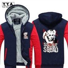Suicide Squad Harley Quinn font b Joker b font font b Cosplay b font hoodies Coat