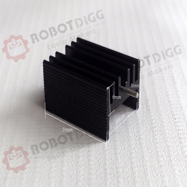 8pcs/lot  20mm length 15mm width 11mm height  High Quality Super Heat Conduction Aluminum Black Heatsink with Needle