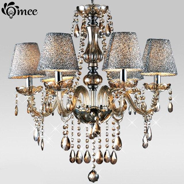 Europa Luxus Cognac Kristall Kronleuchter Lampe/Anhänger 6 8 Led ...