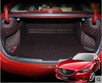 Hoge kwaliteit! speciale kofferbak matten voor Nieuwe Mazda 6 2018 waterdichte cargo liner boot tapijten voor Mazda 6 2017-2014, gratis verzending