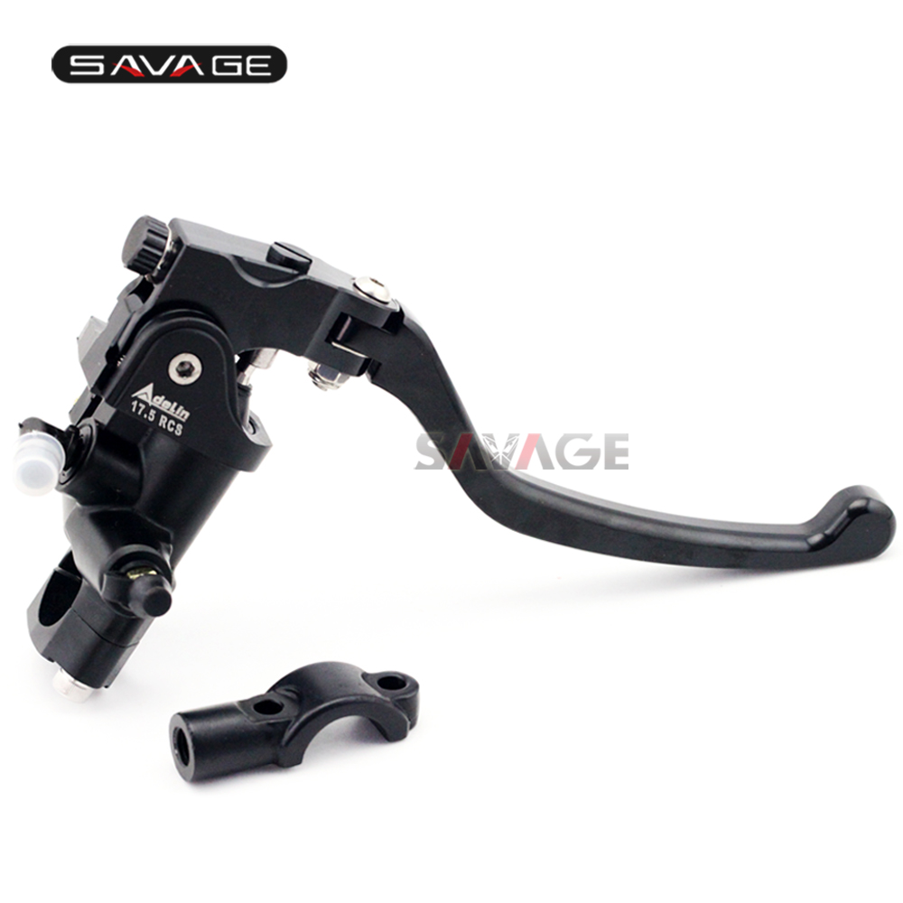 Universal 7/8 22mm Front Brake Pump Lever Radial Master Cylinder Bar Clamp Motorcycle Accessories Motorbike Part CNC Aluminum universal 14mm 16mm black 7 8 22mm motorcycle front brake clutch master cylinder motorbike hydraulic pump motorbike brake lever