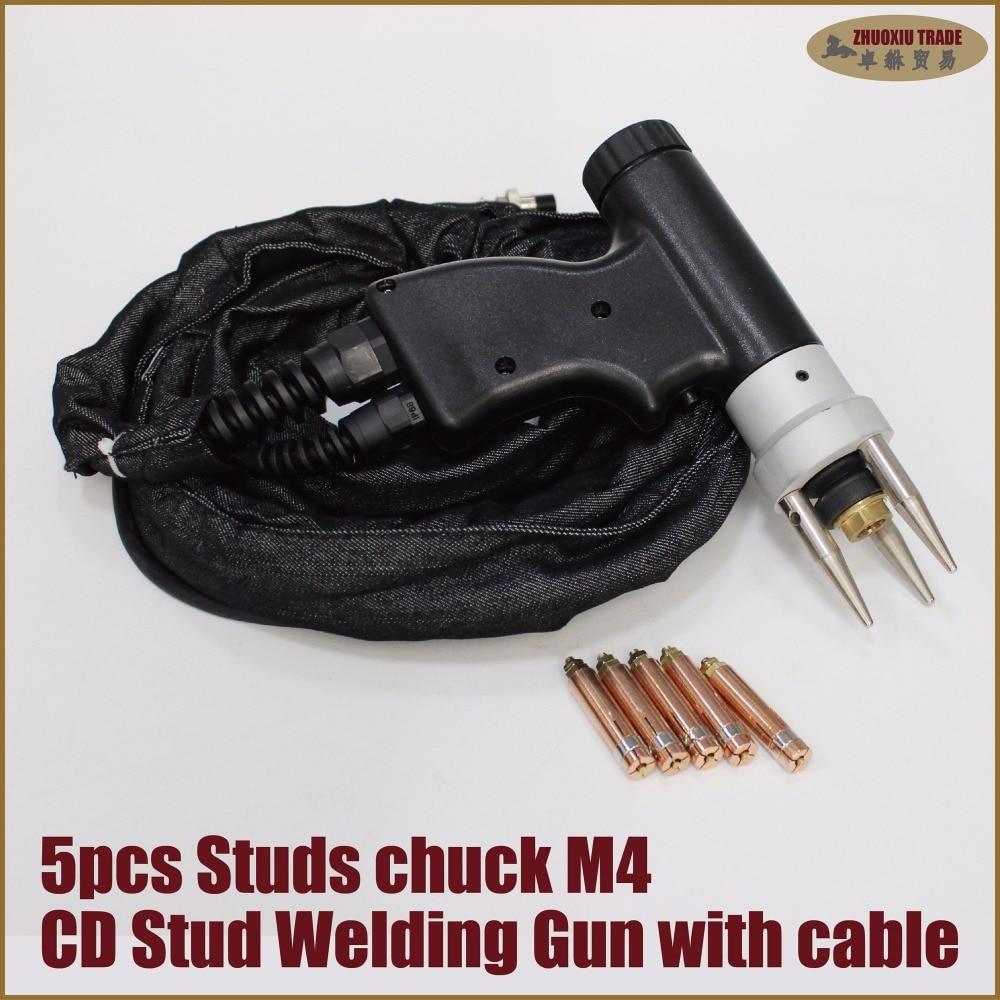 Stud welding gun chuck collet aluminum work station dent pulling system auto car panel sheet metal body garage workshop hand use