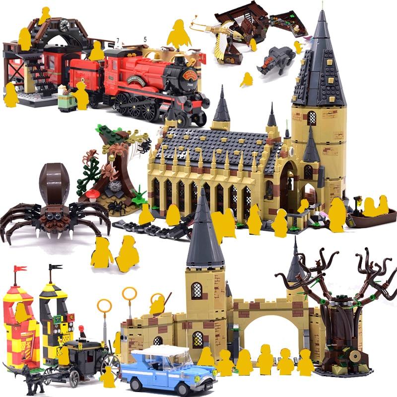 Harri filme 2 Castelo Trem Expresso Casa De Blocos De Construção Tijolos Cidade Criador legoinglys oleiros de Ação Figura Brinquedos Para Crianças