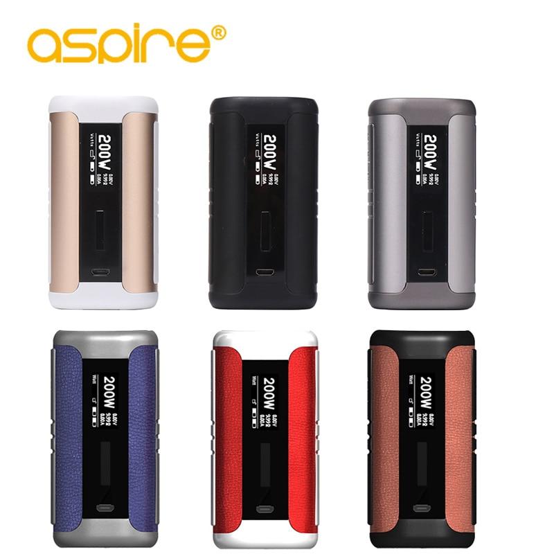 E-sigaretta Aspire Speeder 200 W Box Mod Sigaretta Elettronica Serbatoio Vape Mod Fit Athos Senza Batteria 18650 e sigarette mod