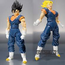 "7 ""/17 cm Dos Desenhos Animados DRAGON BALL Z vegetto enfrenta Adereços pvc action figure modelo toy dolls(China)"