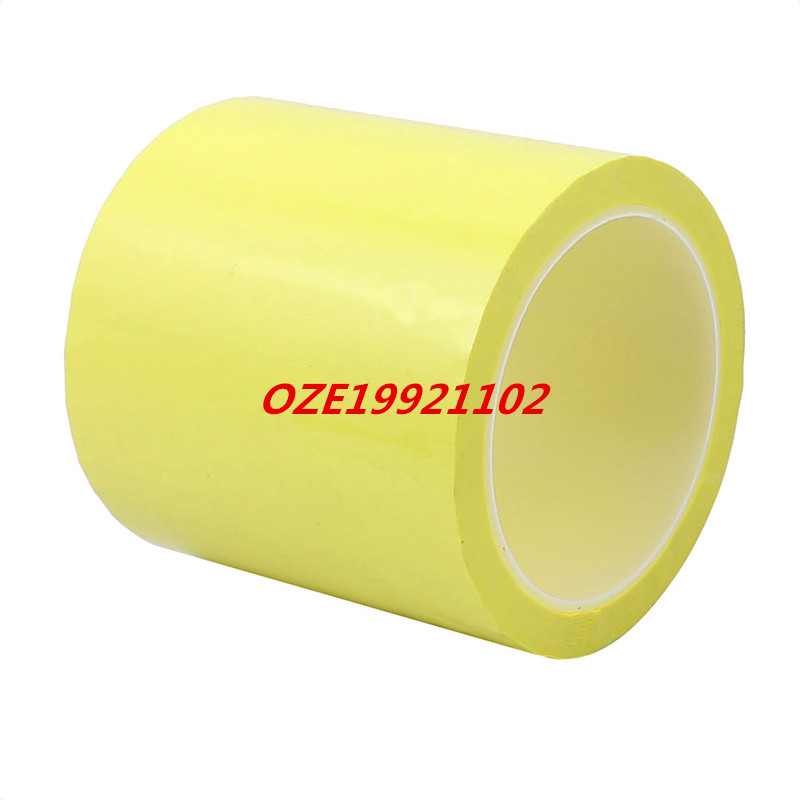 1pcs 100mm Single Sided Strong Self Adhesive Mylar Tape 50M Length Yellow 1pcs single sided self adhesive shockproof sponge foam tape 2m length 6mm x 80mm
