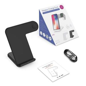 Image 5 - NYFundas Wireless Charger for Apple Watch Wireless Charger Stand 2 in 1 Fast Charger Docking Station Phone Holder for iWatch 2 3
