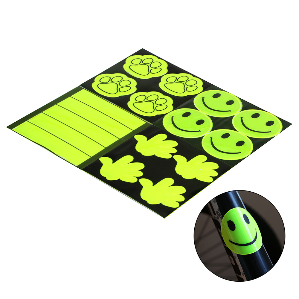 Safety Warning Light Patch Fluorescent Colors Bike Night Cycling Reflector Tape Bicycle Reflective Stickers Protective Sticker 8m 1cm colorful reflective stickers strip motorcycle bicycle fluorescent reflector safety rim decal tape for motorbike bike