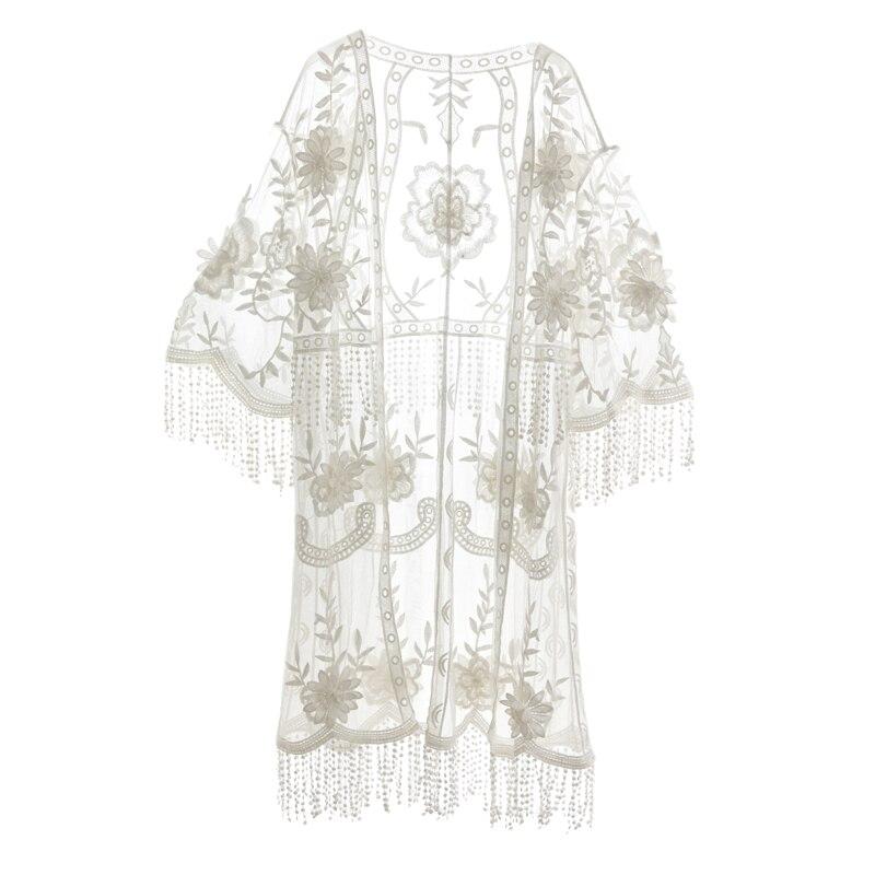G495017 mujer Blusa de encaje camisa femenina de manga larga primavera cuello en V temperamento blusa camisa sólido casual Tops - 4