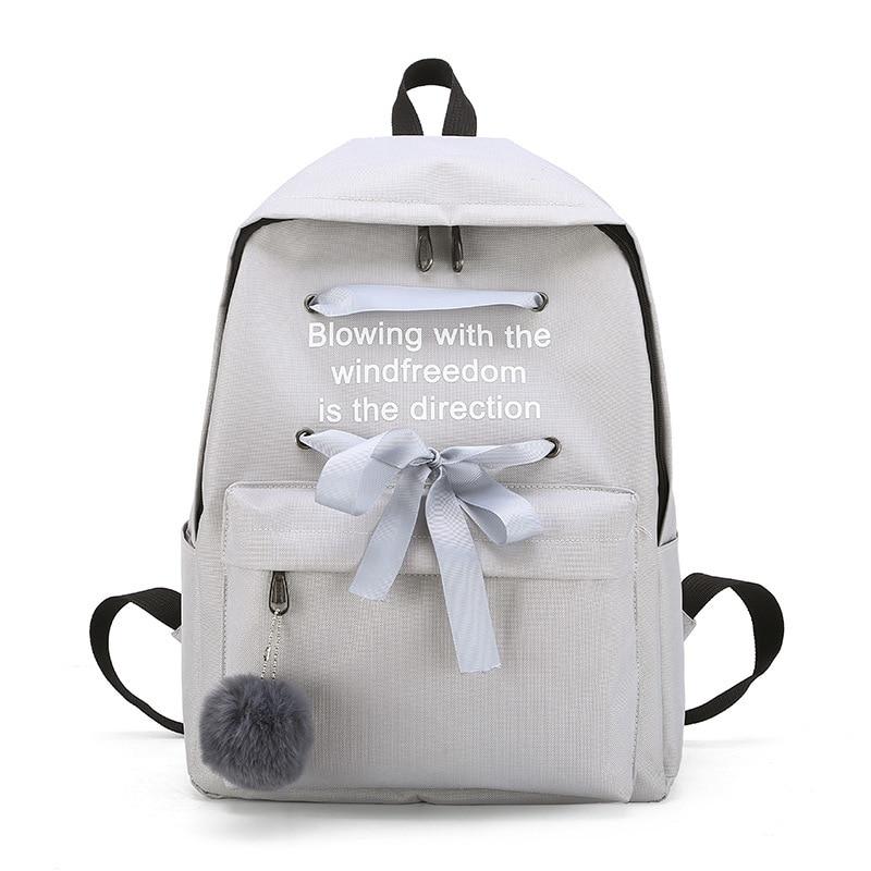 2019 Canvas Shoulders Campus Wind Backpack Women Schoolgirl A Bag Mochila Mujer Bagpack School Bags For Teenage Girls Backpacks in Backpacks from Luggage Bags
