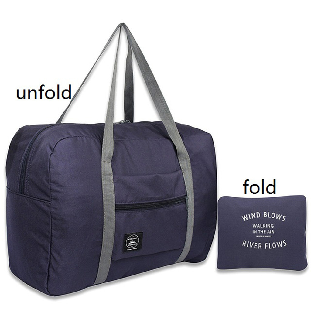 Waterproof Nylon Travel Bags Women Men Large Capacity Folding Duffle Bag Organizer Packing Cubes Luggage Girl Bolso De Viaje #F