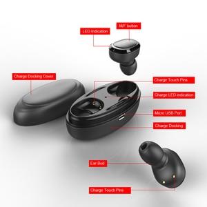 Image 5 - TWS の充電マイクと Bluetooth イヤホン 5.0 ボックス真のワイヤレスミニステレオ音楽ハンズフリーコードレス電話