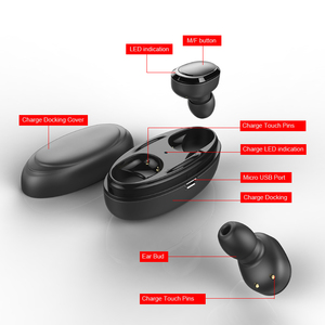 Image 5 - TWS Bluetooth Earphone 5.0 With Mic Charging box True Wireless Mini Earbuds Stereo Music HandsFree Cordless Headset For Phone