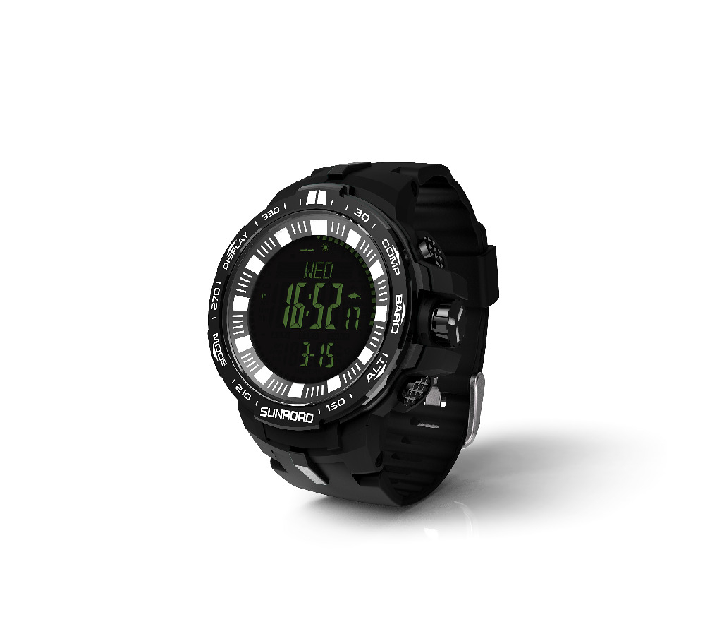 SUNROAD 2018 New Arrival Men Watch FR861B-Outdoor Barometer Compass Altimeter Temperature Watch Men Sports Digital Watch sunroad 2018 new arrival outdoor men sports watch fr851 altimeter barometer compass pedometer sport men watch with nylon strap