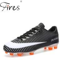 Fires outdoor soccer shoes mens zapatos de soccer Man Football Shoes Long Spikes grass sport futsal shoes Football Kids Soccer
