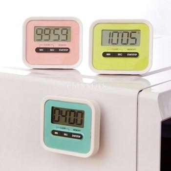 DHL 200PCS Digital Magnetic LCD Timer Racing Kitchen Home Countdown Alarm Clock Stop Watch digital clock