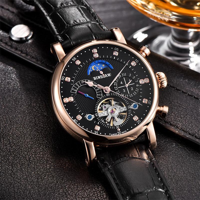 Top ապրանքանիշ BINSSAW մեխանիկական Ձեռքի - Տղամարդկանց ժամացույցներ - Լուսանկար 2