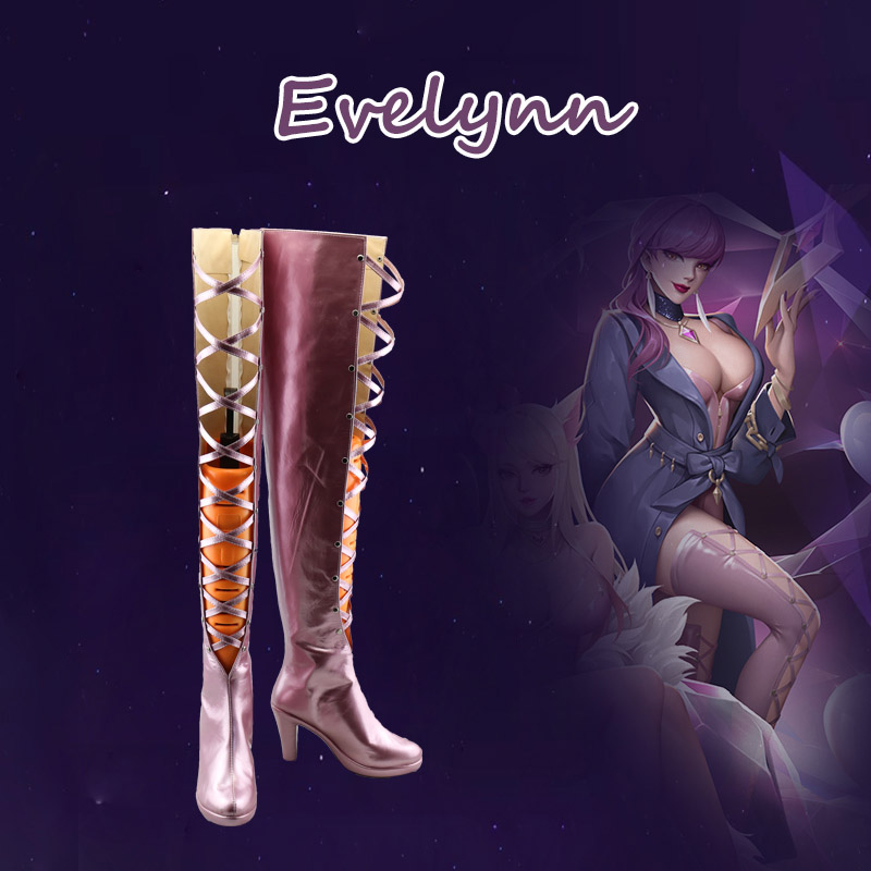 Game LOL KDA Ahri Akali Kaisa Evelynn Cosplay Boots  K/DA Women Sexy Costume Cospaly Shoes Halloween Party Boot