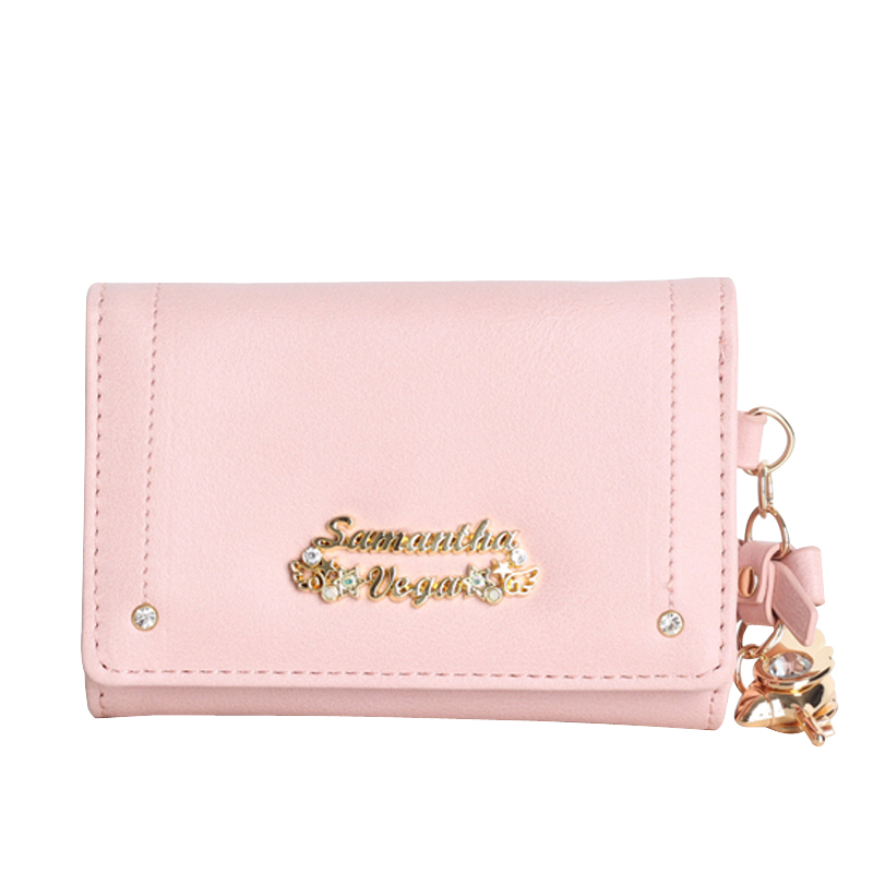 Cardcaptor sakura purse wallet cute anime leather trifold slim mini wallet women small clutch female purse coin card holder