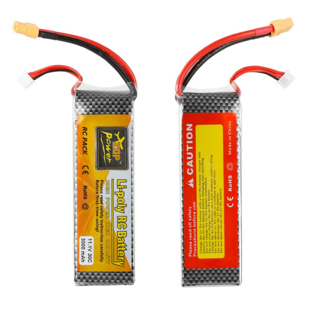 High Quality 1pc ZOP Power 3000mAh 11.1v 30C Lithium Polymer Remote Control Battery 3 7v lithium polymer battery 051 230 501 230 iron general remote control bluetooth headset wireless mouse