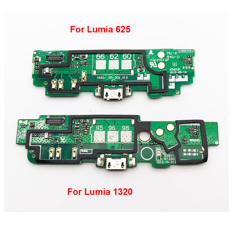 New For Nokia Lumia 625 1320  Micro USB Charging Dock Port Charger Connector Plug PCB Board Flex Ribbon Cable