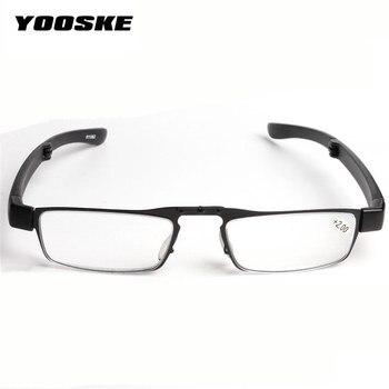9ac9fb3932 YOOSKE gafas de lectura de los hombres las mujeres plegables pequeñas gafas  de marco de gafas con la caja Original de presbicia gafas