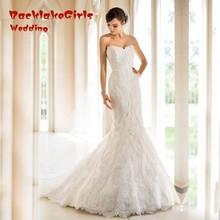 Cheap Lace Mermaid Wedding Dress Sexy Sweetheart Lace Backless Vestido Noiva 2017 Custom Made Robe De Mariage China
