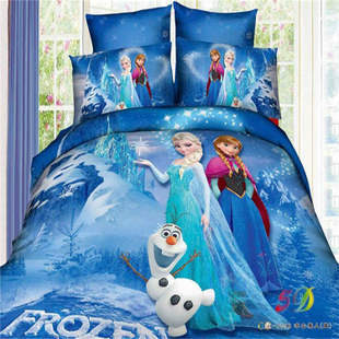3D Froze Bedding Set Cartoon Kid/child Bed Sheet Sets Princess Wholesale  Comforter Cover Twin/single/double/queen/king Size In Bedding Sets From  Home ...