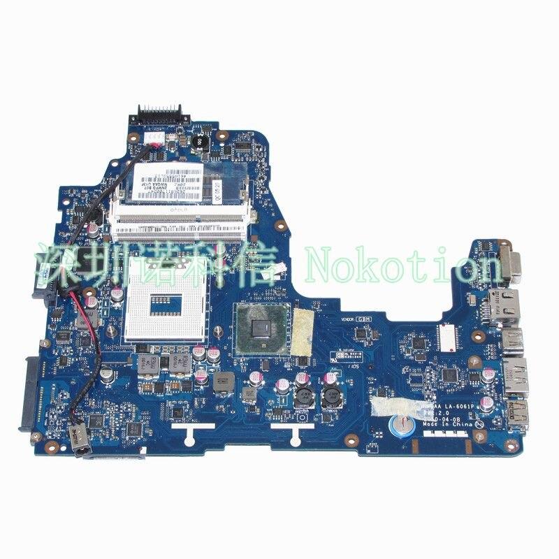 NWQAA LA-6061P K000104250 Mainboard for toshiba Satellite A660 laptop motherboard HM55 DDR3 warranty 60 days original for toshiba satellite a665 a660 laptop motherboard mother board k000104390 nwqaa la 6062p 100% test ok
