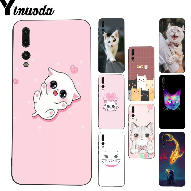 Cellphones & Telecommunications Yinuoda Cute Cat Kitty Fishes Moon Meow Phone Case For Huawei P20 Lite P10 Plus Mate9 10 Mate10 Lite P20 Pro Honor10 View10
