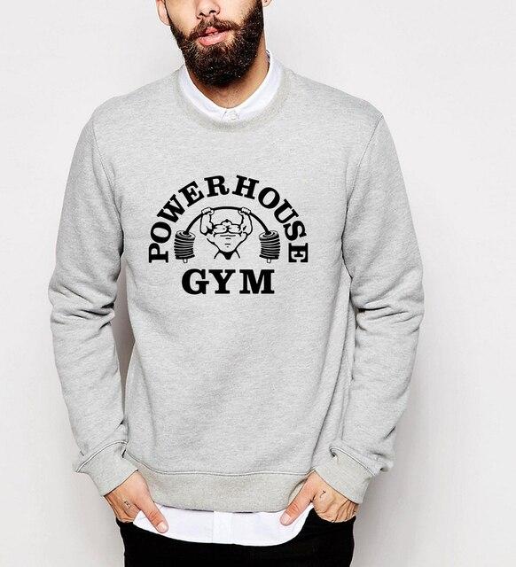 Толстовки свободная Посадка толстовки Бодибилдинг Фитнес футболка Мужчины с длинным рукавом о-образным вырезом спортивные костюмы 2017 руно повседневные kpop пуловеры