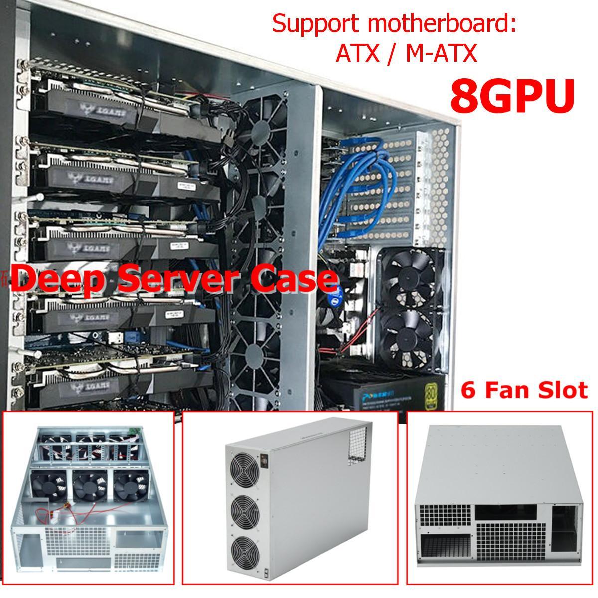 670x430x177 MM Empilable 8U Profonde Serveur Cas Ouvert Air Minière Cadre Plate-Forme graphique SECC USB pour 8 GPU ETH BTC L'ethereum Mineur Machine