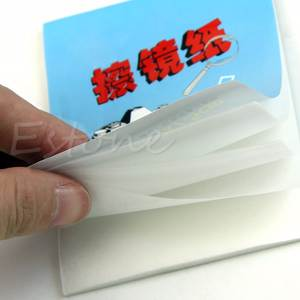 OOTDTY 1 pc 50 Sheets Soft Camera Lens Optics Tissue Booklet Cleaning Clean Paper