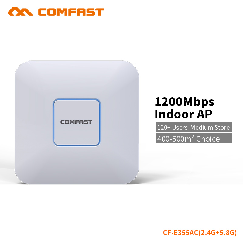 COMFAST AC 1200Mbps Wifi Access Point Router 2.4G + 5.8G Wi-fi Extender 500 Square Meters Coverage Support OpenWRT CF-E355AC comfast full gigabit core gateway ac gateway controller mt7621 wifi project manager with 4 1000mbps wan lan port 880mhz cf ac200
